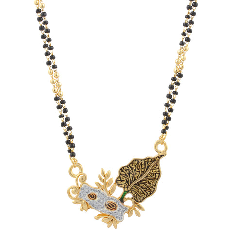 Indian Jewellery from Meira Jewellery:Mangalsutra,Gold Plated Leaf Design Mangalsutra