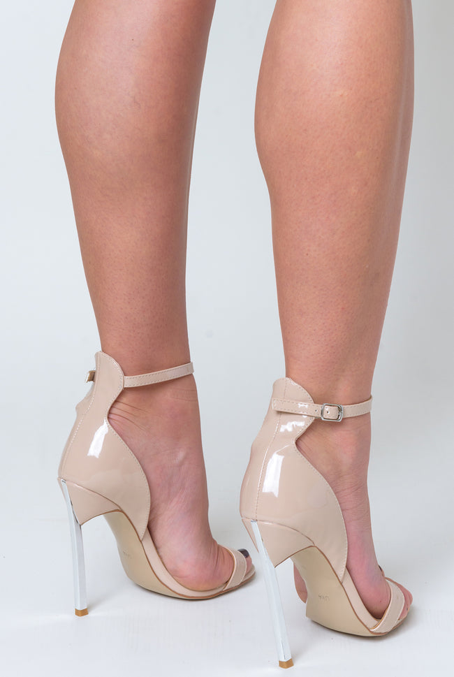 Harlow Barely There Metallic Heel In Nude Patent