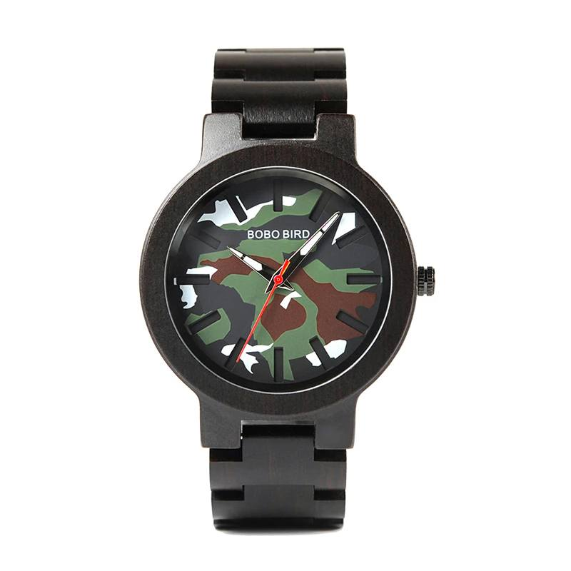 Ebony Camo Wooden Watch