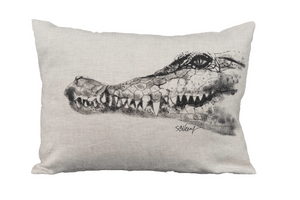 Crocidile on pillow