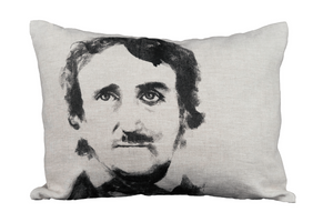 Edgar Allen Poe on pillow