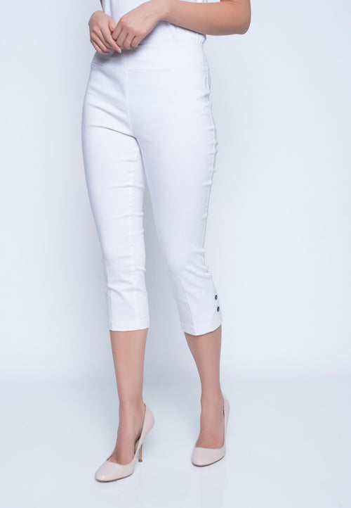 Capri With Button Detail