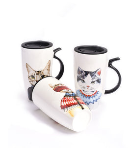Mr. Cat Mug with Lid