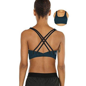 Workout Sports Bras for Women - Strappy Sports Bra Padded for Yoga, Running, Fitness