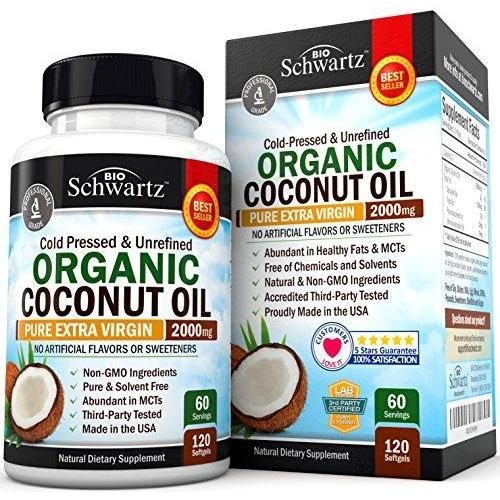 Organic Coconut Oil 2000mg