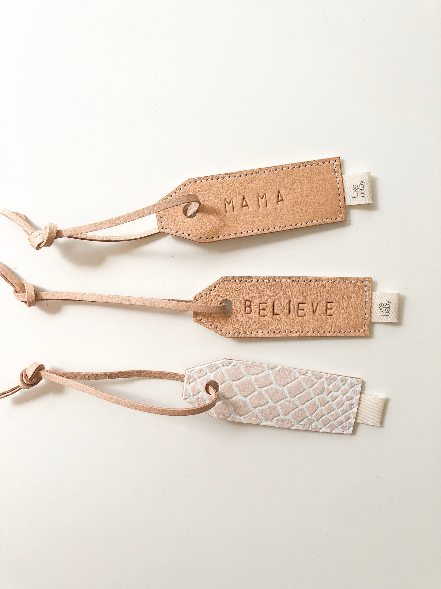 Luxe Personalised Leather Tag