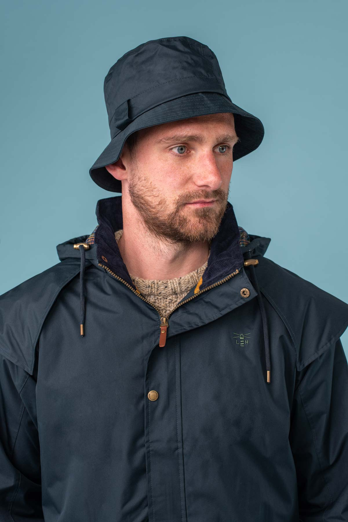 York Rain Hat - Navy
