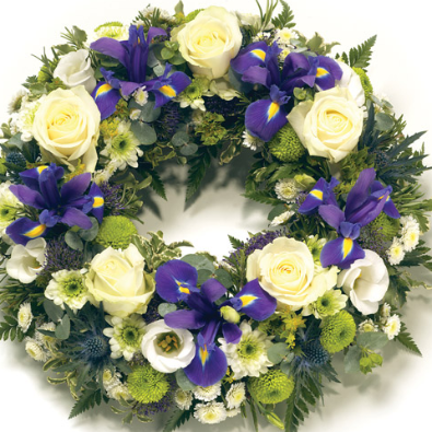 Arley - Blue, Lime, White Country Style Wreath