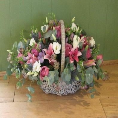 Weyhill - Orchid, Rose and Freesia Basket