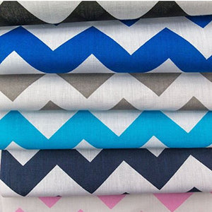 "Chevron 1"" Pattern Cotton Fabric 60 Inch Wide Fabric By the Yard (Variety of Colors)"