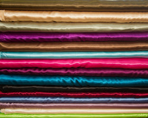 "Charmeuse Satin Solid Colors Fabric 58""/60"" Inches Wide - Sold By The Yard MORE THAN 35 COLORS"
