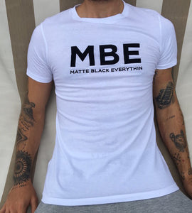 Men's White Longline T-shirt