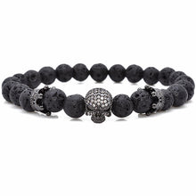 Unisex Trendy Natural Beads with Skeleton Skull