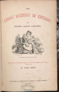 COMIC HISTORY OF ENGLAND, Gilbert A'Beckett 1st/1st 1847, 2 Vols, 120 ENGRAVINGS