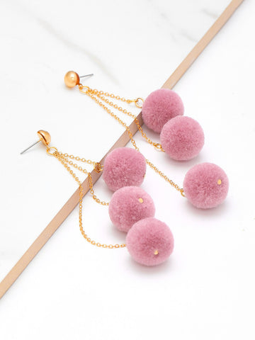 Pom Pom dangling earrings