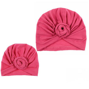 Mommy and me matching knot turban head wrap hat