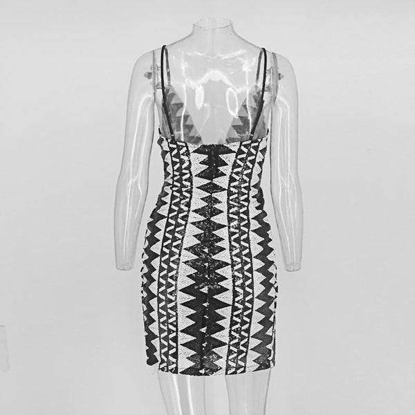 """Top Shot"" high split sequined dress"