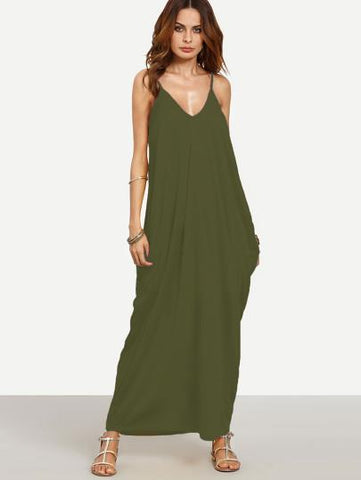 """Spring fling"" Classic side pocket loose fit maxi dress"