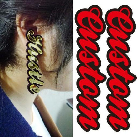 Custom name earrings - Iconic Trendz Boutique