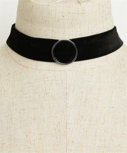 Retro Circle Detail Choker Necklace - Iconic Trendz Boutique
