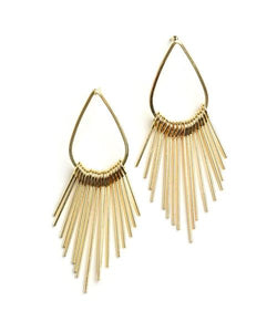 Tear Drop Spiked tassel earrings - Iconic Trendz Boutique