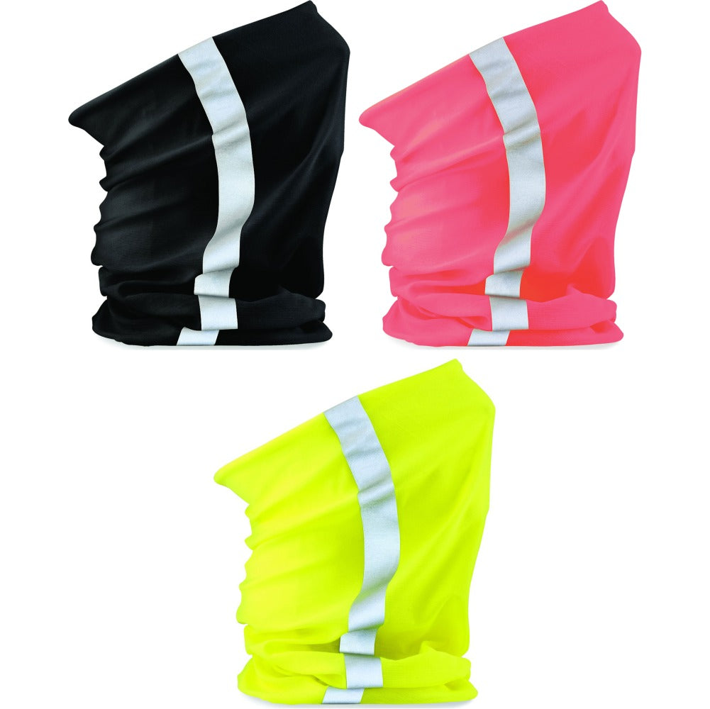 Mens Morf™ Enhanced High Viz Visability Reflective Flourecent Winter Snood Scarf