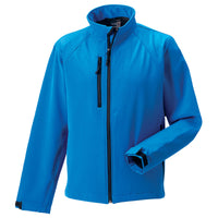 Mens Russell Softshell Microfleece Lined Colour Jacket Top (XS to 4XL)