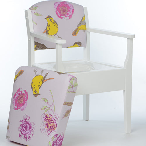 Occasional Chair Commode - LUXURY - Pink Peony Design - Platinum Health & Beauty