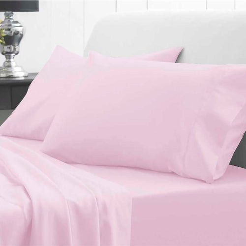 Waterproof Bed Sheet - Fitted - Pink - Beautifully Soft & Comfortable - Platinum Health & Beauty