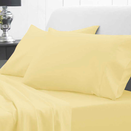 Waterproof Bed Sheet - Fitted - Yellow - Beautifully Soft & Comfortable - Platinum Health & Beauty