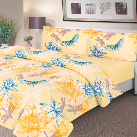 Waterproof Duvet Set - 100 % Waterproof - Blue Swallow Design - Beautifully Soft and Comfortable