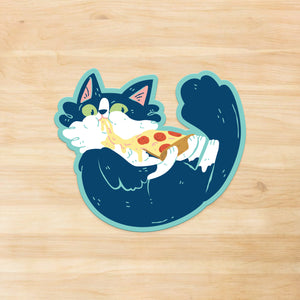 Orion the Cat - Pizza Time Vinyl Sticker