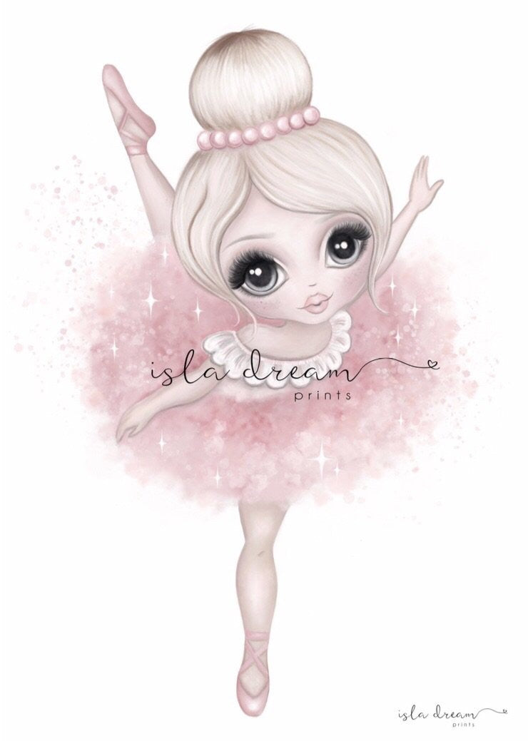 Bella The Ballerina Print - Pink - Little Oak + Co