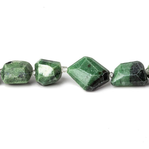 8-10mm Zoisite Faceted Nugget Beads, 14 inch