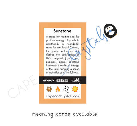 Sunstone meaning card