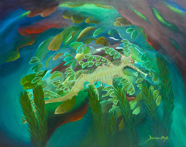 Camouflaged Sea Dragon – Acrylic Painting by Darrell Hook