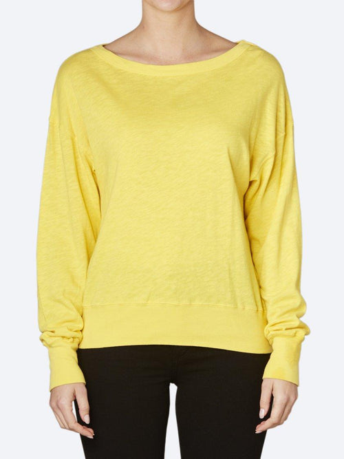 Yeltuor - AMERICAN VINTAGE - Tops - AMERICAN VINTAGE SON SWEATER - CANARY -  XS-S