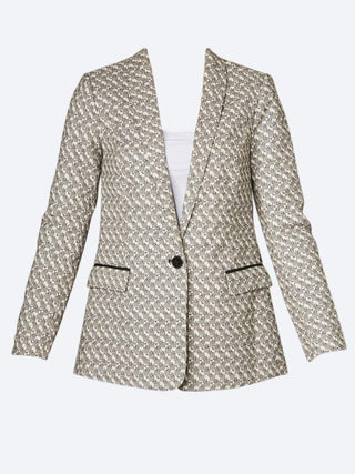 Yeltuor - MAISON SCOTCH - Jackets & Coats - MAISON SCOTCH STRETCH JACQUARD TAILORED BLAZER -  -