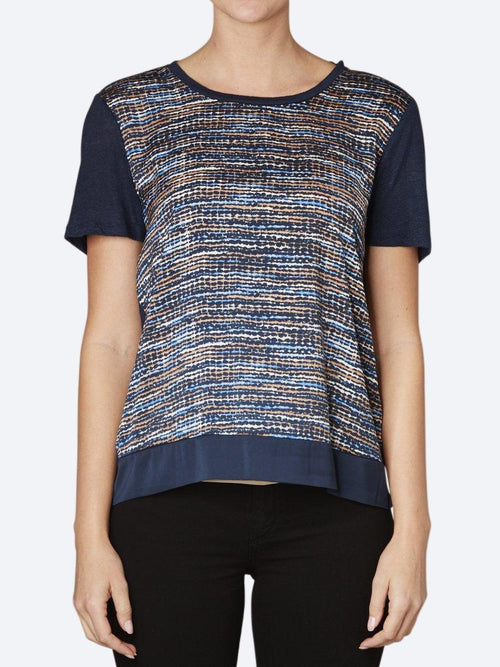 Yeltuor - MAISON SCOTCH - Tops - MAISON SCOTCH MIXED PRINT TEE -  -