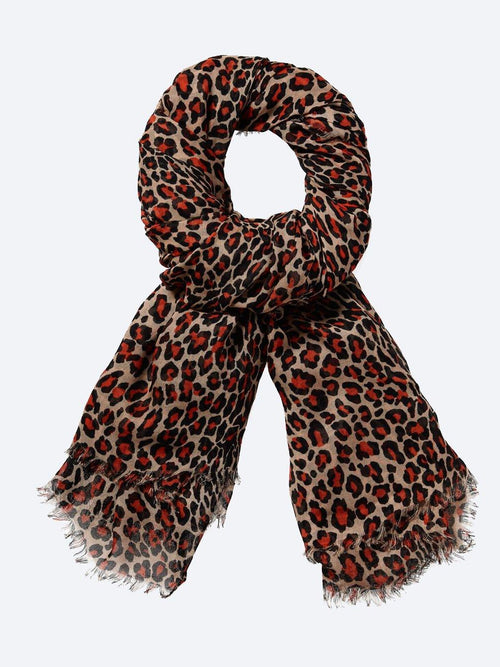 Yeltuor - MAISON SCOTCH - SCARVES - MAISON SCOTCH ANIMAL PRINT SCARF -  -