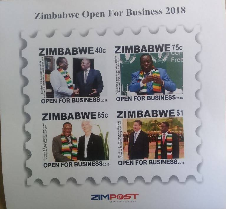 ZIMBABWE OPEN FOR BUSINESS MINITURE SHEET