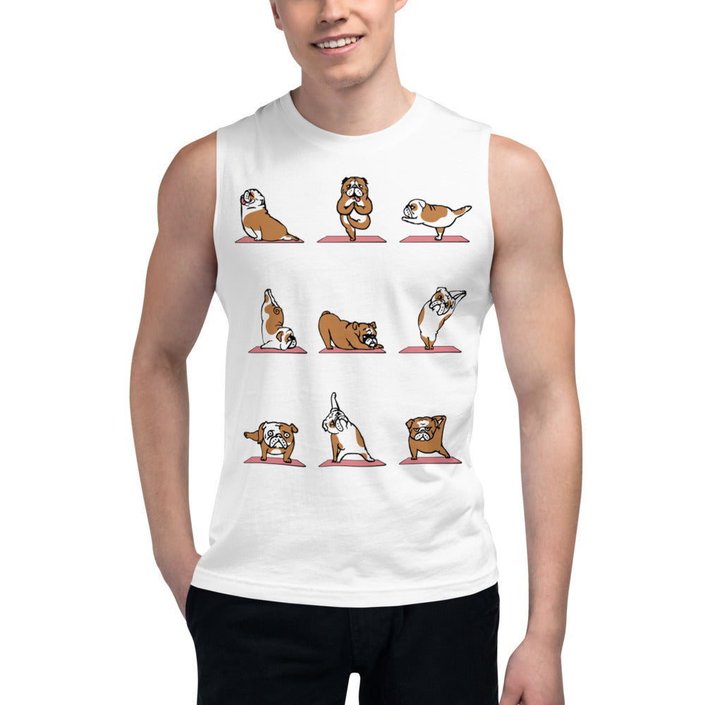 English Bulldog Yoga Muscle Shirt