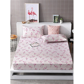 Flamingos Print Fitted Sheet