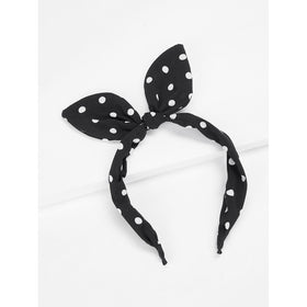 Polka Dot Pattern Headband With Rabbit Ear