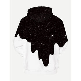 Men 3D Milk Print Hooded Sweatshirt