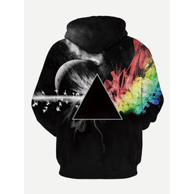 Men 3D Print Hooded Sweatshirt