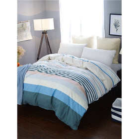 Contrast Striped Print Duvet Cover