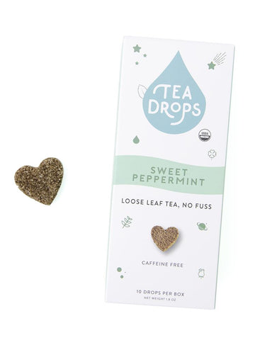 Tea Drops compostable box, 10 ct - Sweet Peppermint