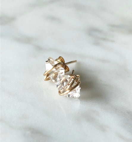 Laura Stark Designs - Herkimer Diamond Studs