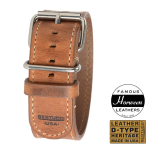 "#201H - American Heritage Tan Horween® w/ high polish hardware, 1"" - 26 mm size for A-4 & A-5 Cases"